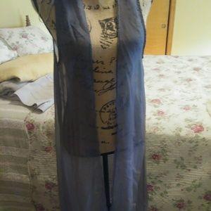Sheer long vest